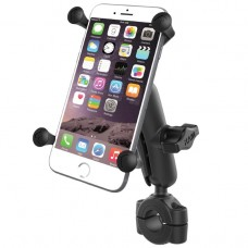 "Torque™ 3/4"" - 1"" Diameter Handlebar/Rail Base with 1"" Ball, Standard Arm and X-Grip® for Larger Phones"
